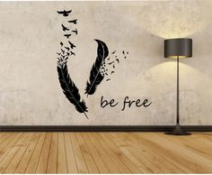Feathers Turning Into Birds Vinyl Wall Decal Sticker Art Decor Bedroom Design Mural animals home decor living room BE FREE