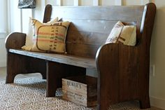 Ideas For Diy Seating Bedroom Mud Rooms Church Pew Bench, Church Pews, Diy Casa, Banquette, Small Dining, Wooden Diy, Diy Wood, Home Interior Design, Diy Interior Bench