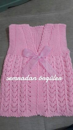 Zara's Sleeveless Cardigan Crochet pattern by Mon Petit Violon Baby Knitting Patterns, Knitting Designs, Free Knitting, Crochet Baby Clothes, Baby Cardigan, Sleeveless Cardigan, Baby Sweaters, Baby Dress, Crochet Baby Dresses