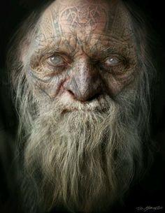 Snow White and the Huntsman: Dwarf Concept Art, Jerad Marantz Fantasy Dwarf, Fantasy Rpg, Dnd Characters, Fantasy Characters, Character Portraits, Character Art, Digital Art Gallery, Interesting Faces, Fantasy Creatures