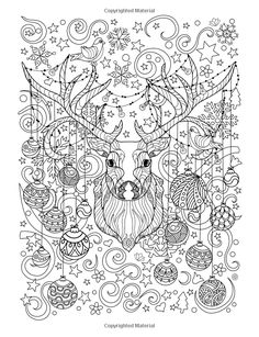 Coloring Book Art, Cute Coloring Pages, Christmas Coloring Pages, Noel Christmas, Christmas Colors, Free Adult Coloring, Johanna Basford Coloring Book, Printable Coloring Sheets, Christmas Drawing
