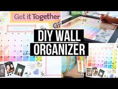 DIY Wall Organizer & Back 2 School Giveaway! | LaurDIY - YouTube