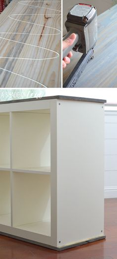 an easy ikea hack bookcase to wood wrapped changing table kinderzimmer m bel und schlafzimmer. Black Bedroom Furniture Sets. Home Design Ideas