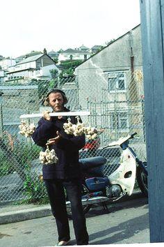 """1988. """"Organic Garlic, Madam"""" ? West Terrace, Newlyn, Cornwall."""