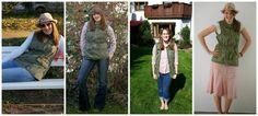 Amy Fashion: Monthly Remix Recap:Arugula Canvas Drawstring Vest