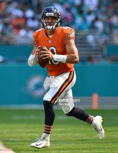 70562ee84 News Photo   Mitchell Trubisky of the Chicago Bears looks to... Bears  Football