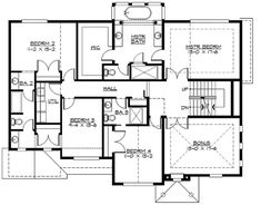 W23407JD 2nd floor - I would turn the bonus room into a guest suite (since there's more space on the 3rd floor).