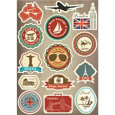 Famous Scenic Spots Vintage Computer Laptop Sticker Trolley Luggage Suitcase Sticker Car Styling Wall Skateboard Car Stickers  #handbags #kids #L09582 #bagshop #shoulderbags #backpack #bag #highschool #YLEY #Happy4Sales #fashion