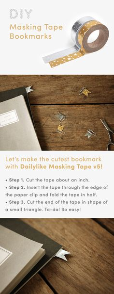 You can use this super lovely paper clip as both paper clip and a bookmark! Would you share your brilliant ideas to utilize the Dailylike Masking Tape v5? ^_^*