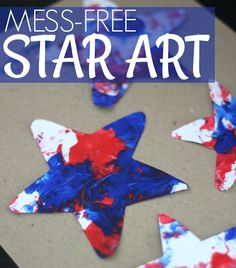Easy Mess-Free Patriotic Star Painting for Kids