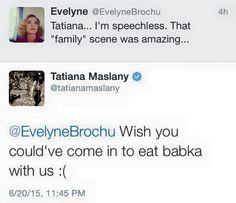 Tatiana Maslany & Evelyne Brochu - Orphan Black