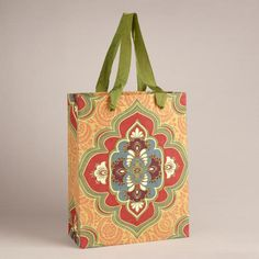 One of my favorite discoveries at WorldMarket.com: Large Yellow Marrakesh Medallion Handmade Gift Bag