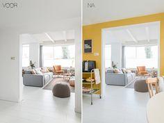 BEFORE / AFTER - Restyling van de keuken : Welke kleur geef je de keukenmuur? | Binti Home blog : Interieurinspiratie, woonideeën en stylingtips