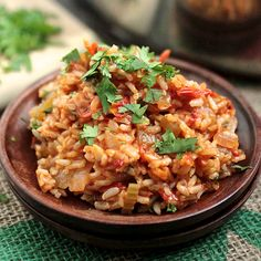 This spicy vegan jambalaya is hearty and full of fresh produce. Jalapeños and paprika give it a nice kick!