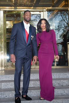 Dwayne Wade and Gabrielle Union at the 2015 Met Gala.