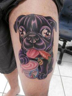 Amanda Orcutt - Pug Tattoo