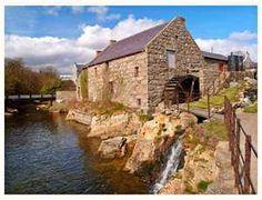 Old mill house at Annalong Harbour, County Down, Northern Ireland
