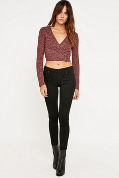 Pins & Needles Wrap Front Top - Urban Outfitters