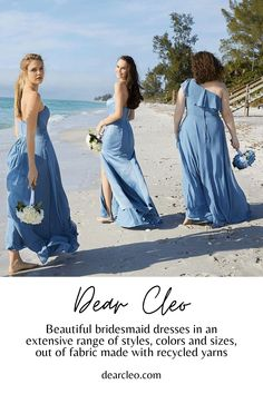 Dear Cleo makes bridesmaid shopping easy and fun. Their virtual showroom lets you and your friends shop together and their try-at-home program helps you find your perfect style and fit. Or, you can simply choose your favorite dress and buy it now! More details on dearcleo.com. #bridesmaids #bridesmaiddresses Beautiful Bridesmaid Dresses, Bridesmaid Dress Styles, Bridesmaid Proposal, Brides And Bridesmaids, Vintage Wedding Theme, Custom Dresses, Dress Making, Showroom, Fashion Dresses