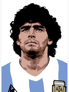 Diego Armando Maradona is a retired Argentine professional footballer. Football Icon, Football Art, World Football, Nike Football, World Cup Draw, Diego Armando, Sports Drawings, Soccer Art, Football Images