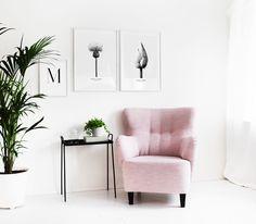 Botaniska tavlor med vita träramar online