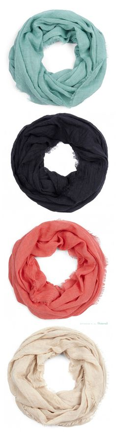 Lightweight Infinity Scarves....love this material