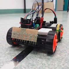 6 sensor IR reflective PID controlled line follower. #arduino #robotics #autonomous #electronics #infared #kalmanfilter #pid by dvdktn