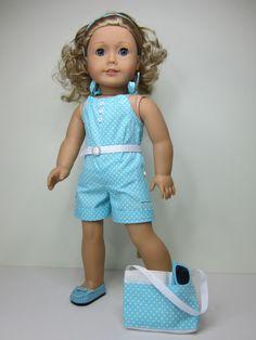 American girl doll clothes 4pc Super cute aqua by JazzyDollDuds,
