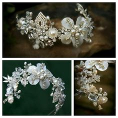 Exquisite Pearl & Crystal Headpieces