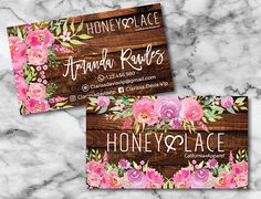 Honey and Lace Business Cards Custom Honey & Lace Small
