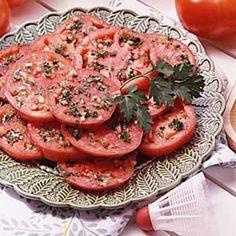 Tasty Marinated Tomatoes Recipe   Taste of Home Recipes