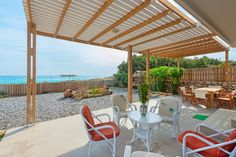 The Rhodes South Escape beach front Plimmiri - Holiday homes & villas on Rhodes Island Greece Rhodes Island Greece, 4 Bedroom House, Rhode Island, Beach House, Pergola, Villa, Outdoor Structures, Building, Holiday