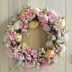 Easter Egg Wreath $19.99