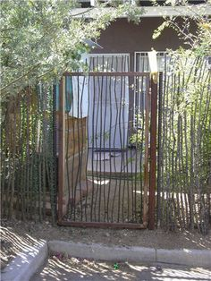 Organic Gardening Information Metal Garden Fencing, Wooden Garden Gate, Metal Fence, Metal Gates, Wooden Gates, Wrought Iron Gates, Deer Fence, Fence Gate, Fences