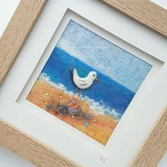 Tilly Tea Dance by tillyteadance on Etsy Wet Felting, Needle Felting, Felt Pictures, Seaside Decor, Free Motion Embroidery, Wool Art, Textile Artists, Original Artwork, Etsy Seller
