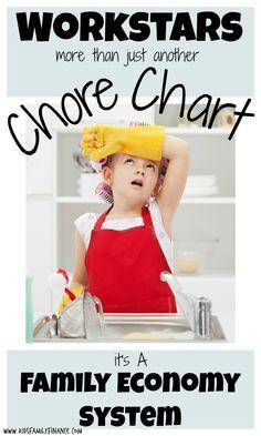 Workstars, more than just a chore chart it's a family economy system, chore chart, kids chores, kidsfamilyfinance.com