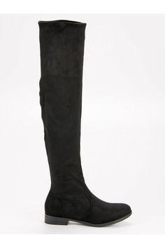 Semišové čierne čižmy nad koleno CnB Riding Boots, Platform, Shoes, Fashion, Wedge, Zapatos, Moda, Shoes Outlet, La Mode