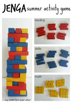 jenga summer activity game  My Craftily Ever After