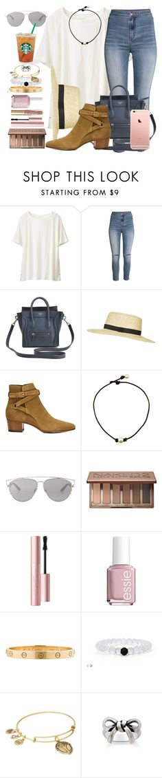 """""""Lunch with my dad."""" by prepworld ❤ liked on Polyvore featuring Uniqlo, H&M, Topshop, Yves Saint Laurent, Christian Dior, Urban Decay, Too Faced Cosmetics, Essie, Cartier and Alex and Ani"""