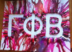 Gamma Phi Beta Crayon Melt #Greek #Sorority #Gifts #Crafts #DIY #CheapSororityGifts #CheapSororityCrafts