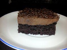 Tarta de chocolate loca Crazy cake, sin gluten, sin lactosa, vegana.