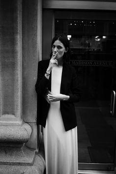 Ruby Aldridge outside of CK FNO  NYFW S/S 2013  ©Eric Lyle Lodwick
