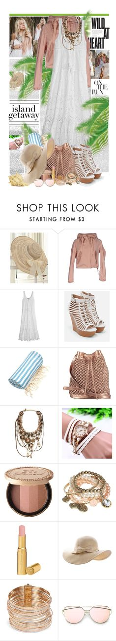 """""""Wild at Heart"""" by summersunshinesk7 ❤ liked on Polyvore featuring Oris, WithChic, Jil Sander, Calypso St. Barth, JustFab, Linum Home Textiles, nooki design, Erickson Beamon, Too Faced Cosmetics and Red Herring"""