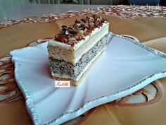 Makové rezy (fotorecept) - Recept Vanilla Cake, Tiramisu, Sweets, Food And Drink, Ethnic Recipes, Poppy, Green Papaya Salad, Vanilla Sponge Cake, Sweet Pastries