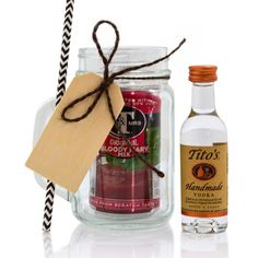 Mini Mason Jar Bloody Mary Gift Set Mini Mason Jars, Mason Jar Gifts, Spirit Gifts, Bloody Mary, Tequila, Craft Gifts, Cool Gifts, Margarita, Christmas Fun
