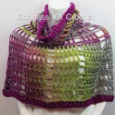 Spring Fling Poncho By Goddess Crochet - Free Crochet Pattern - (ravelry)