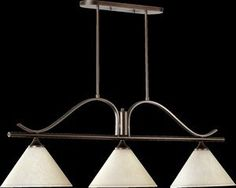 Quorum 6529-3-186 Winslet II - Three Light Island, Oiled Bronze Finish with Linen Shade by Quorum. $304.00. Shade Included: TRUE.