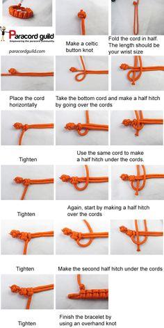 double half hitch paracord bracelet tutorial ..j