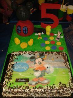 Tarta de cumpleaños y decoracion forexpan mickey mouse