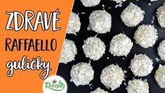 Zdravé raffaello kokosové guličky 🥥 - fit recept na zdravé vianočné pečivo Thing 1, Cereal, Muffin, Breakfast, Recipes, Fit, Raffaello, Morning Coffee, Muffins